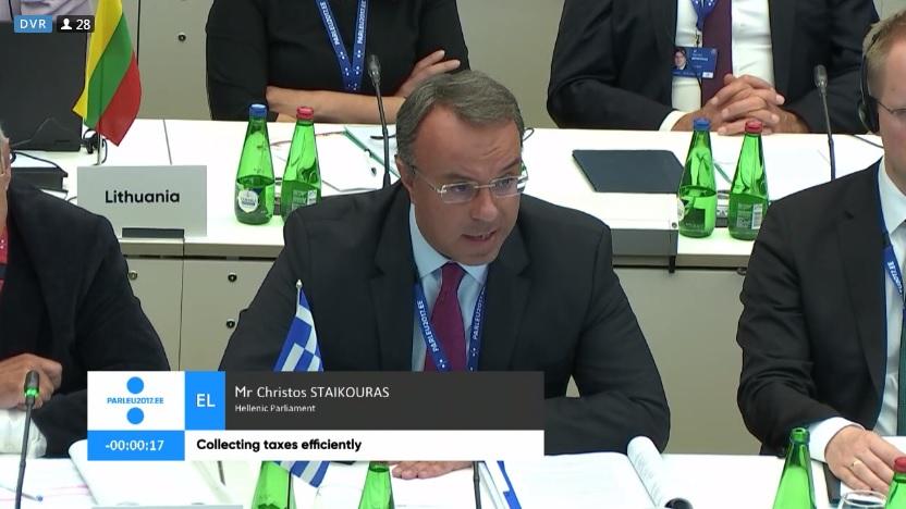 Ταλίν, Παρέμβαση Χρ. Σταϊκούρα για Φορολογικό Σύστημα | 31.10.2017