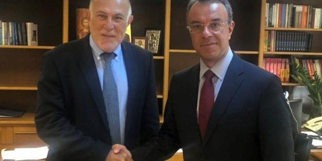 Συνάντηση Υπουργού Οικονομικών με τον Πρόεδρο της Οικονομικής και Κοινωνικής Επιτροπής (Ο.Κ.Ε) | 25.7.2019
