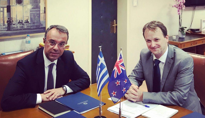 Συνάντηση Υπουργού Οικονομικών με τον πρέσβη της Νέας Ζηλανδίας | 20.7.2019