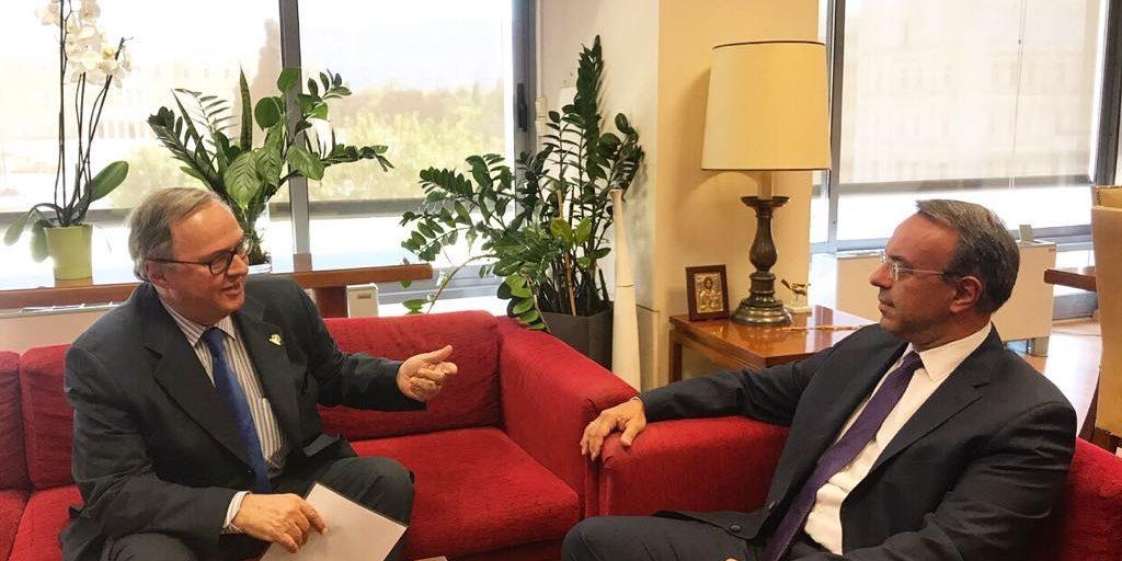 Συνάντηση Υπουργού Οικονομικών με τον Πρέσβη της Βραζιλίας | 30.8.2019