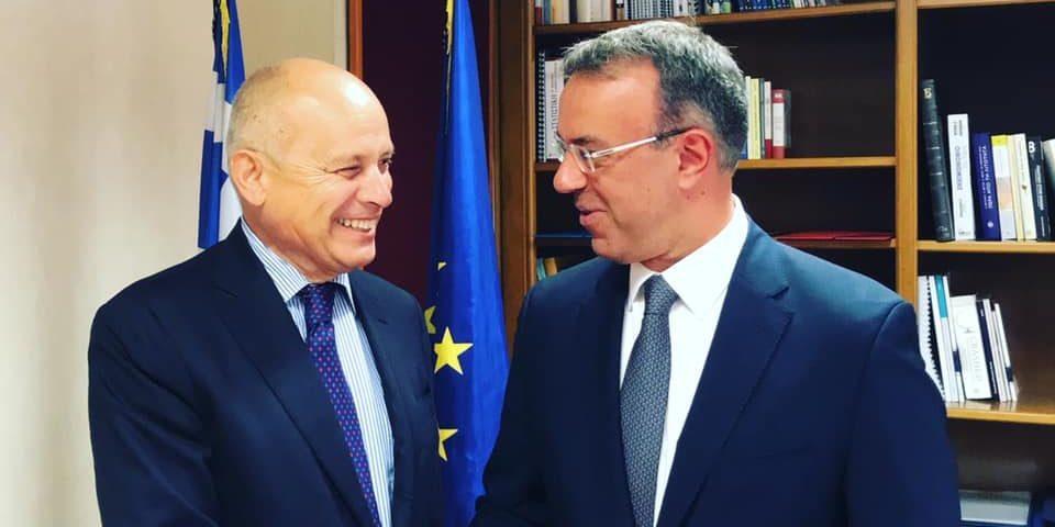 Με τον Ιταλό Πρέσβη συναντήθηκε ο Υπουργός Οικονομικών   4.9.2019