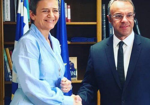 Συνάντηση του Υπουργού Οικονομικών με την Επίτροπο Ανταγωνισμού της ΕΕ   11.10.2019