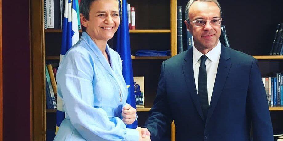 Συνάντηση του Υπουργού Οικονομικών με την Επίτροπο Ανταγωνισμού της ΕΕ | 11.10.2019