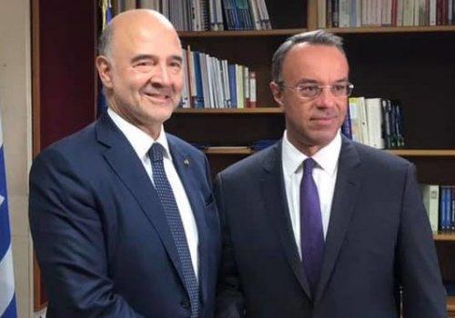 Συνάντηση Υπουργού Οικονομικών με τον Ευρωπαίο Επίτροπο Οικ. Υποθέσεων   4.10.2019