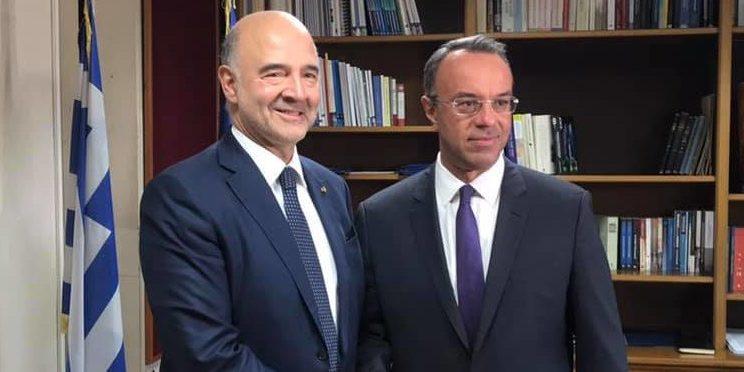 Συνάντηση Υπουργού Οικονομικών με τον Ευρωπαίο Επίτροπο Οικ. Υποθέσεων | 4.10.2019