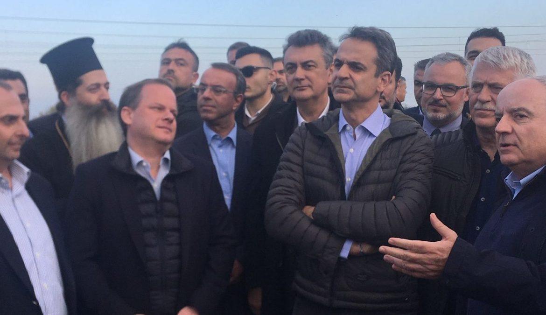 Ο Υπουργός Οικονομικών με τον Πρωθυπουργό και τον Υπουργό Υποδομών στον Ε-65 (φωτογραφίες) | 20.12.2019