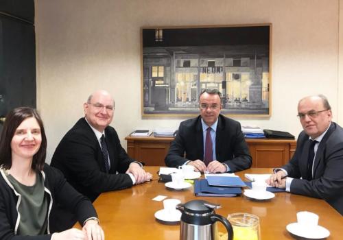Συνάντηση με τον Πρόεδρο της Ευρωπαϊκής Αρχής Ασφαλίσεων και Επαγγελματικών Συντάξεων κ. Gabriel Bernardino   13.2.2020
