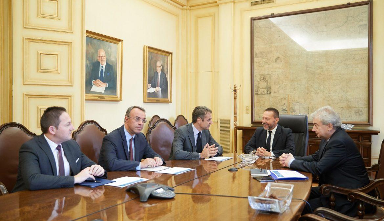 Συνάντηση του Προέδρου της Ν.Δ. κ. Κ. Μητσοτάκη με τον Διοικητή της ΤτΕ | 19.11.2018