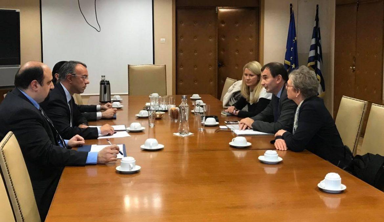 Συνάντηση Υπουργού Οικονομικών με τον Αντιπρόεδρο της Ευρωπαϊκής Τράπεζας Ανασυγκρότησης και Ανάπτυξης   5.3.2020