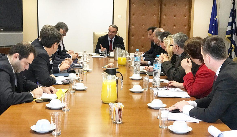 Σύσκεψη στο Υπουργείο Οικονομικών για το πρόβλημα του κορωνοϊού | 6.3.2019