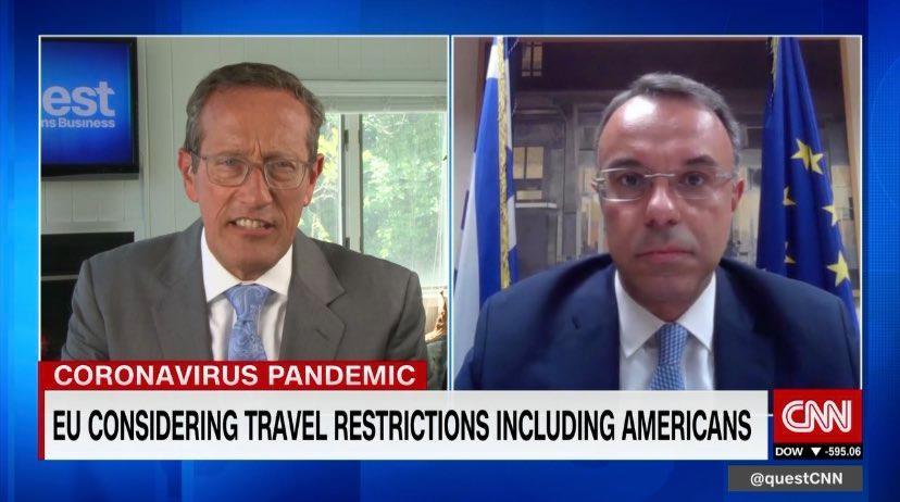 Ο Υπουργός Οικονομικών στο CNN international (video) | 25.6.2020