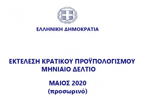Εκτέλεση Κρατικού Προϋπολογισμού Μαΐου 2020 | 15.6.2020
