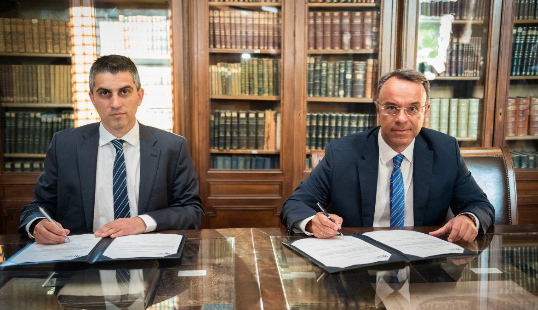 Χαιρετισμός Υπουργού Οικονομικών στην τελετή υπογραφής των συμβολαίων χρηματοδότησης δύο σημαντικών επενδυτικών έργων | 8.7.2020