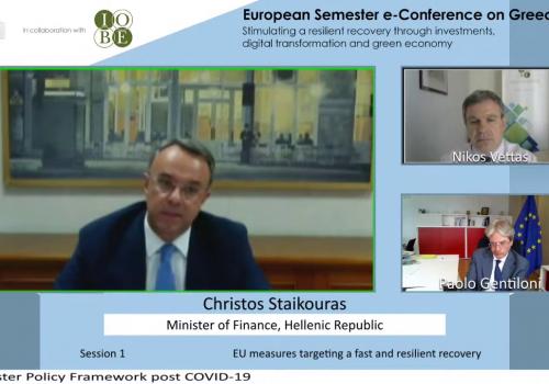 Ο Υπουργός Οικονομικών Χρήστος Σταϊκούρας στο Διαδικτυακό Συνέδριο του ΙΟΒΕ (video) | 1.7.2020
