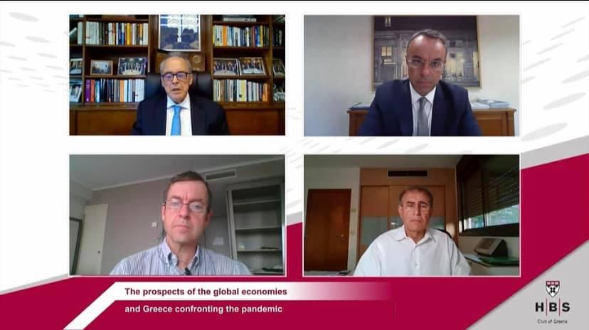 Ο ΥπΟικ Χρ. Σταϊκούρας στη Διαδικτυακή συζήτηση του Harvard Business School Club of Greece (video)   24.9.2020