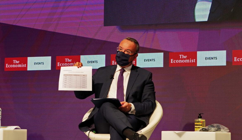 Ομιλία του ΥπΟικ στην «24η Συζήτηση Στρογγυλής Τραπέζης με την Ελληνική Κυβέρνηση» του «Economist» (video) | 15.9.2020