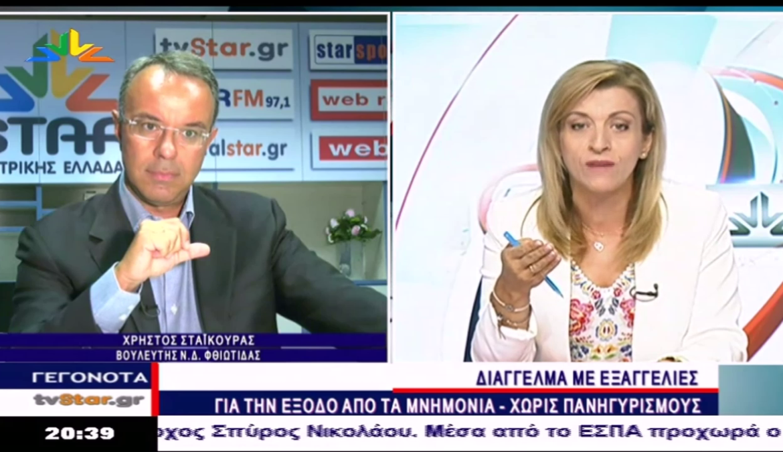 Ο Χρήστος Σταϊκούρας στο Star Κεντρικής Ελλάδας με την Όλγα Λαθύρη   19.8.2018