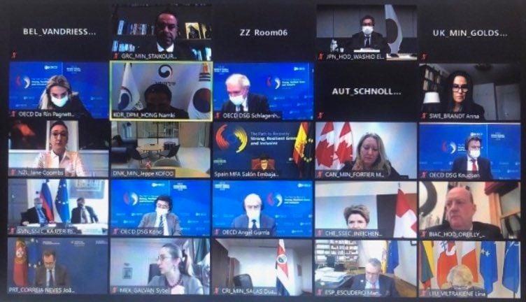Τοποθέτηση του Υπουργού Οικονομικών στην Υπουργική Σύνοδο του ΟΟΣΑ | 29.10.2020