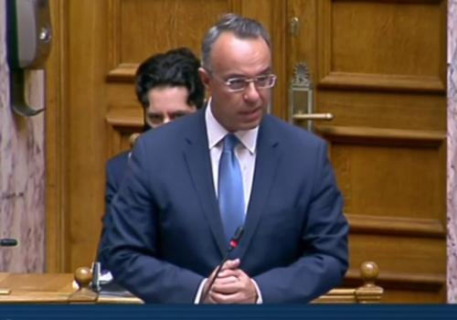 """Ο Υπουργός Οικονομικών στην Ολομέλεια για το Σ/Ν """"Ρύθμιση Οφειλών & Παροχή 2ης Ευκαιρίας""""   22.10.2020"""
