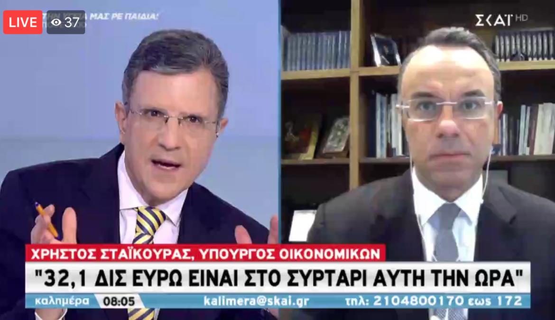 Ο Υπουργός Οικονομικών στον ΣΚΑΪ με το Γιώργο Αυτιά (video) | 9.1.2021