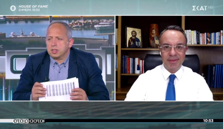 Ο Υπουργός Οικονομικών στην τηλεόραση του ΣΚΑΪ (video)   10.3.2021