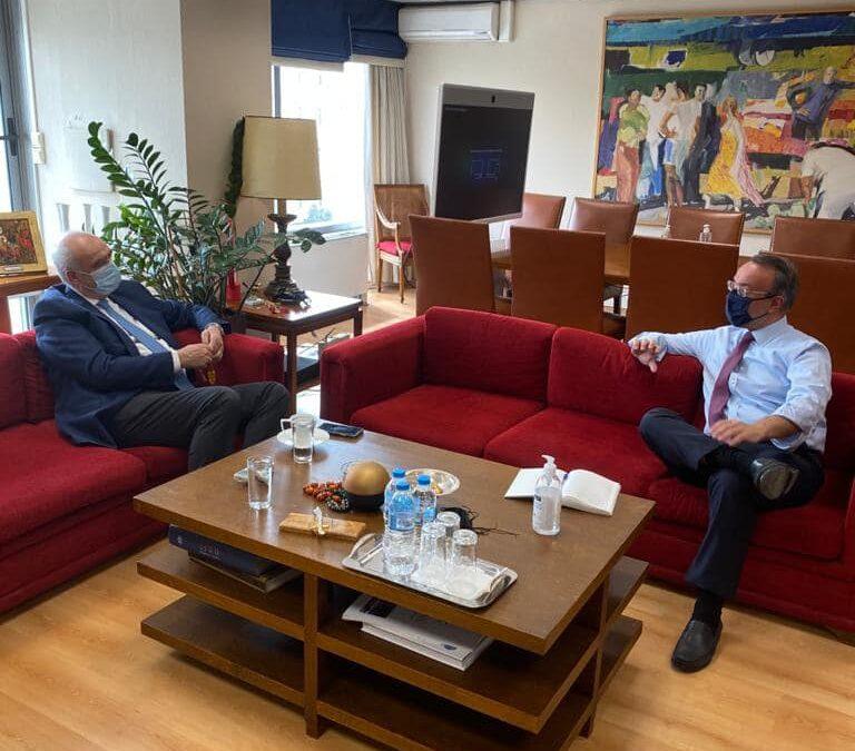 Με τον Αντιπρόεδρο της Κ.Ο. του ΕΛΚ Β. Μεϊμαράκη συναντήθηκε ο Υπουργός Οικονομικών | 5.4.2021