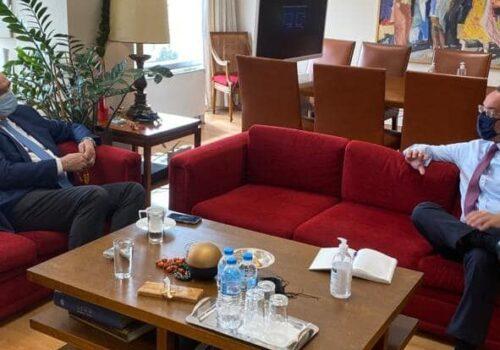 Με τον Αντιπρόεδρο της Κ.Ο. του ΕΛΚ Β. Μεϊμαράκη συναντήθηκε ο Υπουργός Οικονομικών   5.4.2021