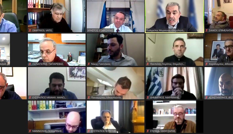 Τηλεδιάσκεψη του ΥπΟικ με εκπροσώπους της Τοπικής Αυτοδιοίκησης και Παραγωγικούς Φορείς της Π. Βορείου Αιγαίου | 2.4.2021