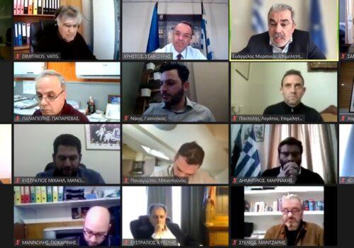 Τηλεδιάσκεψη του ΥπΟικ με εκπροσώπους της Τοπικής Αυτοδιοίκησης και Παραγωγικούς Φορείς της Π. Βορείου Αιγαίου   2.4.2021