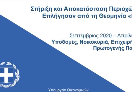 Ιανός: Παρουσίαση από τον ΥπΟικ στοιχείων για την υλοποίηση των μέτρων στήριξης και αποκατάστασης | 19.4.2021