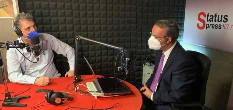 Συνέντευξη Υπουργού Οικονομικών στο ραδιοφωνικό σταθμό STATUS FM 107, 7   18.5.2021