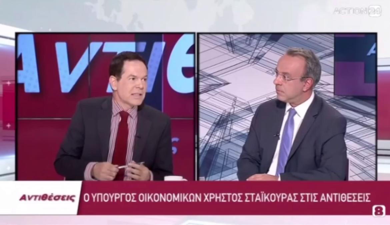 Ο Υπουργός Οικονομικών στο Action 24 με τον Δημήτρη Τάκη (video) | 28.6.2021