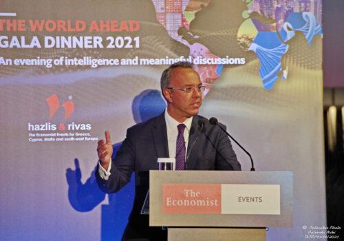 """Ο Υπουργός Οικονομικών στο """"The World Ahead Gala Dinner 2021"""" του The Economist   23.7.2021"""
