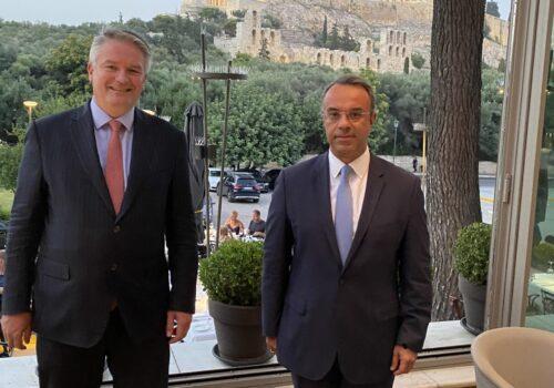 Συνάντηση Υπουργού Οικονομικών με το νέο Γενικό Γραμματέα του ΟΟΣΑ | 1.7.2021
