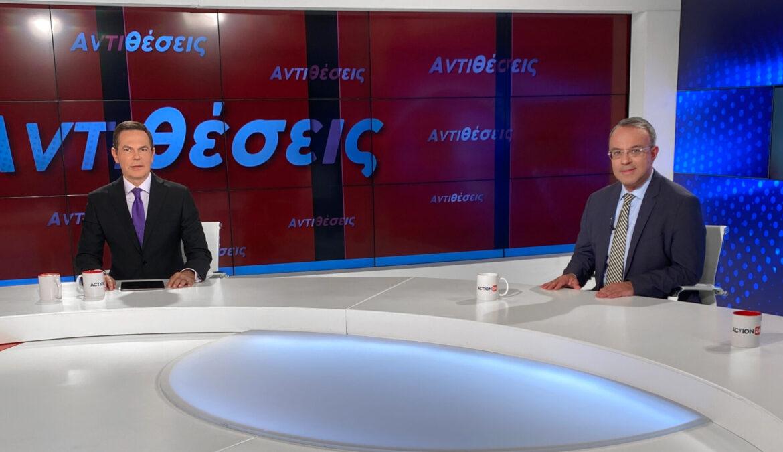 Ο Υπουργός Οικονομικών στο Action 24 με τον Δημήτρη Τάκη (video) | 12.10.2021